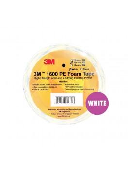 3M 1600PE Foam Tape 20mm X 8M - White