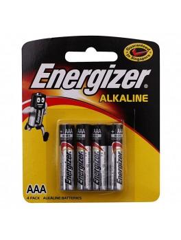 ENERGIZER E92 BP4 Alkaline Battery (Yellow Card), Size:AAA (4pcs/card)