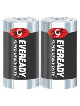 EVEREADY M1250 SW2 Carbon Zinc Battery, Super Heavy Duty, Size:D (2pcs/pack)