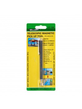 SELLERY 07-108 Magnetic Bar, Length: 125 - 640mm (Black)
