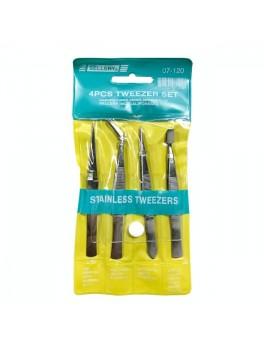 SELLERY 07-120 4pc Tweezer Set (Stainless Steel)-Higher Standard