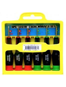 SELLERY 11-197 6pcs Precision Screwdriver Set Size: (-)1.4,1.8,2.4mm (+)#00,#0,#1