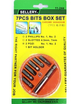 SELLERY 11-244 7pc Bits Box Set