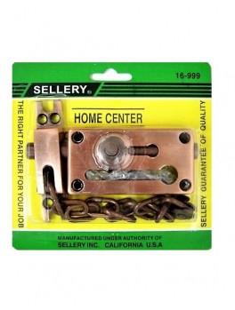 """SELLERY 16-999 Door Chain & Bolt 3 1/8""""x1 5/8""""x11/16""""x8"""" (Copper/Bronze)"""