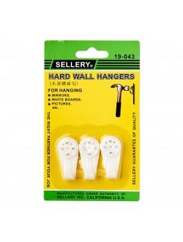 SELLERY 19-043 Hard Wall Hangers 40mm (3pc/set)