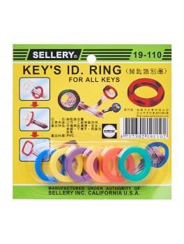 "SELLERY 19-110 Identification Key Ring 1"" (6/set)"