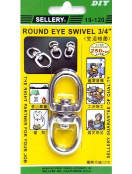 "SELLERY 19-120 Round Eye Swivel 3/4"""