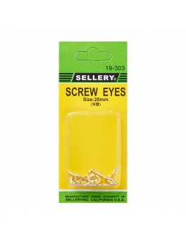 SELLERY 19-303 Screw Eyes, 20mm (10pc/set)