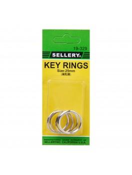 SELLERY 19-329 Key Rings, 25mm (5pc/set)