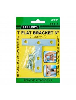 "SELLERY 19-511 T-Flat Bracket 3"" (2pc/set)"
