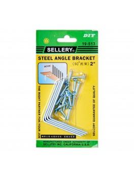 "SELLERY 19-513 Angle Bracket 2"" w/ Screws (4pc/set)"