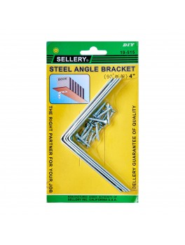 "SELLERY 19-515 Angle Bracket 4"" w/ Screws (4pc/set)"