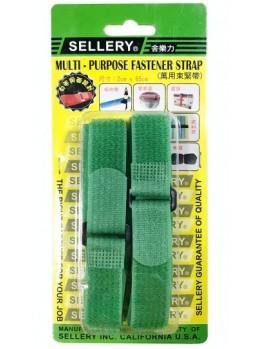 SELLERY 19-908 2pc Multi-Purpose Fastener Strap - Green (2x65cm)