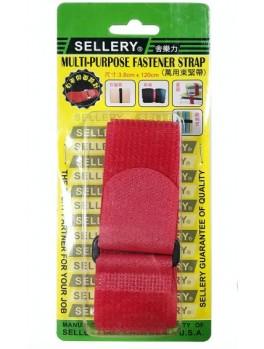 SELLERY 19-909 Multi-Purpose Fastener Strap - Red (3.8x120cm)