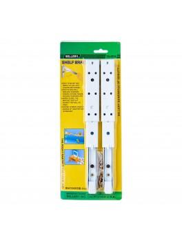 """SELLERY 19-989 Folding Shelf Bracket 12"""" - Powder-Coated White (w/Scews) (2pc/set)"""