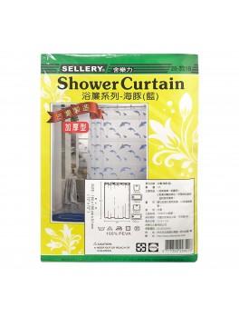 SELLERY 20-321B Shower Curtain 180cmx180cm - Blue