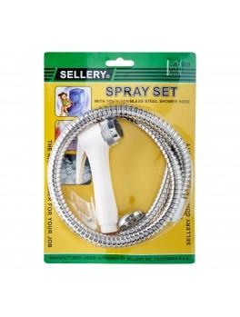 """SELLERY 20-500 Spray Set, 39""""/100cm Hose (White)"""