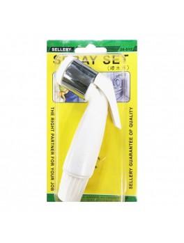 SELLERY 20-512W Spray Head W/Spray Tail,Clip, Washersx2pcs (White)