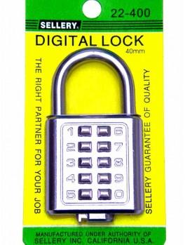 SELLERY 22-390 Digital Padlock 35mm (8 Digits)-Chrome