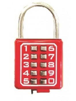 SELLERY 22-400 Digital Padlock 40mm (10 Digits) (Red)
