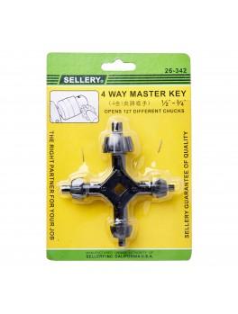 "SELLERY 26-342 4-Way Master Key, Size: 1/2""-3/4"""