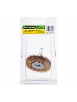 """SELLERY 30-211 Wire Wheel Brush, Size: 2""""x12mmx12mm (Thread: 6mmx30mm)"""