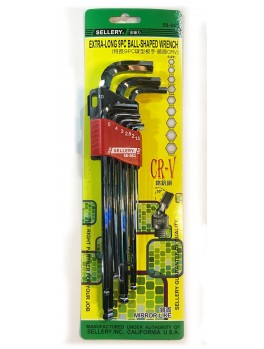 SELLERY 58-563 9pc Ball Point Wrench Set