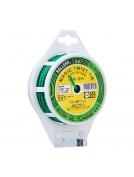 SELLERY 59-125 Magic Twist Tie 100M (Green PVC Coating)