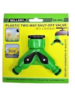 SELLERY 60-092 Tap Adaptor & 2-Way Shut-Off Valve
