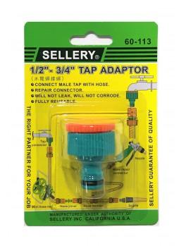"""SELLERY 60-113 Tap Adaptor 1/2""""-3/4"""""""
