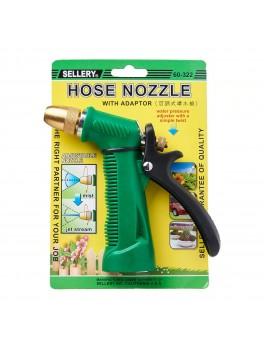 "SELLERY 60-322 Hose Nozzle w/ Adjustable Brass Spray Head, Length: 5.1/2"", O.D: 3/4"""