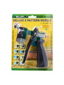 """SELLERY 60-325 Deluxe 8-Function Hose Nozzle, Length: 5.1/2"""", O.D: 3/4"""""""