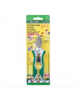 """SELLERY 66-218 Mini S/S Bypass Floral Shears 6"""""""