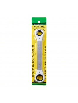 SELLERY 74-519 Offset Ratchet Box Wrench, Size: 19x21mm, Length: 230mm