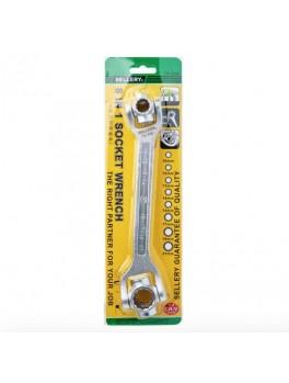 SELLERY 74-590 8-In-1 Socket Wrench, Size: 10x12x13x14mm, 15x17x19x21mm