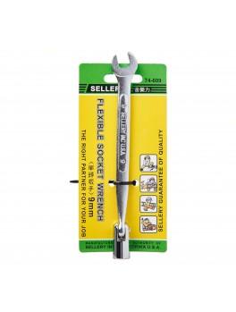 SELLERY 74-609 Flexible Socket Wrench, Size: 9mm