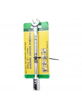 SELLERY 74-611 Flexible Socket Wrench, Size: 11mm