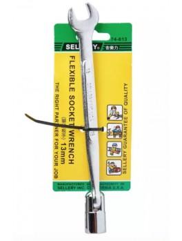SELLERY 74-613 Flexible Socket Wrench, Size: 13mm
