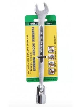 SELLERY 74-614 Flexible Socket Wrench, Size: 14mm