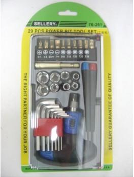 SELLERY 76-261 29pc Power Bits Tools Set