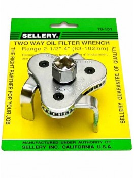 SELLERY 78-151 2-Way Oil Filter Wrench, Range: 63 - 102mm