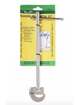 """SELLERY 78-212 Basin Wrench 11"""" (Steel)"""