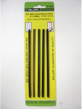 "SELLERY 81-605 Mini Hacksaw Blade Set 24T 6"" (5pc/set)"