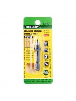 SELLERY 92-501 Quick Bore Drill Bit (8.5mm Bore Bit for Shelf Pin 9mm)