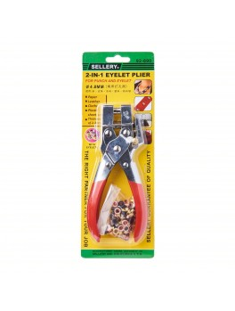"""SELLERY 92-890 Eyelet Plier, Size: 7"""" (with 100 Eyelets)"""