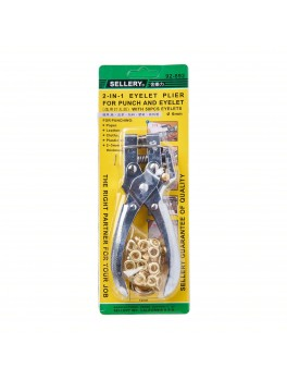 SELLERY 92-892 2-IN-1 Eyelet Plier (6mm) * With 50pcs Eyelets