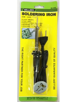 SELLERY 96-660 Soldering Iron, 30w / 220v (with Safety Stand)