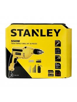 STANLEY STEL141K 10mm 220V 550W Percussion Drill w/ Kit Box