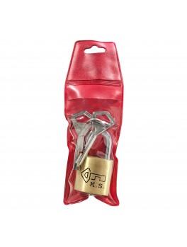 KS Brass Security Padlock 30mm w/2 keys (SEL-22-731)