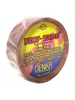 VINI-TAPE #103, 0.13mmx19mmx10YDS (Brown)